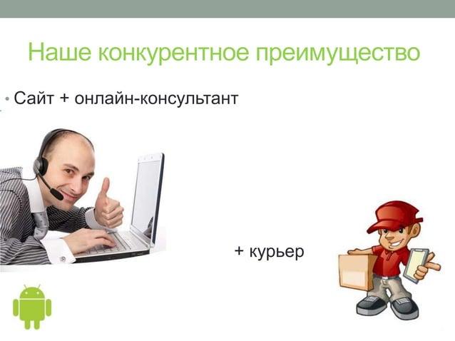 Наше конкурентное преимущество• Сайт + онлайн-консультант• + курьер