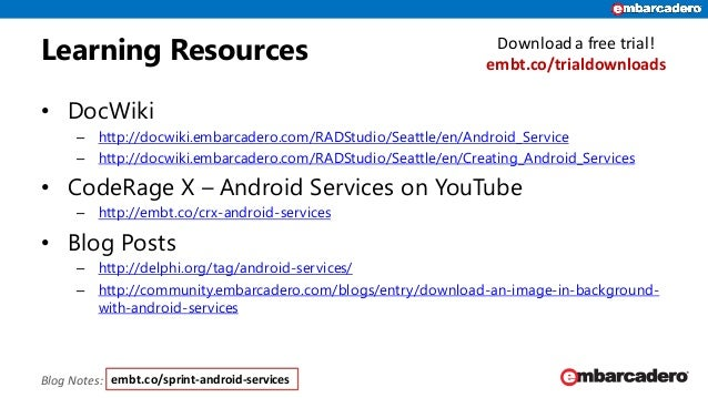 Android Services Skill Sprint