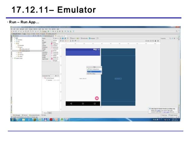 Android studio emulator