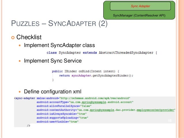Developing Android Client Apps via SyncAdapter