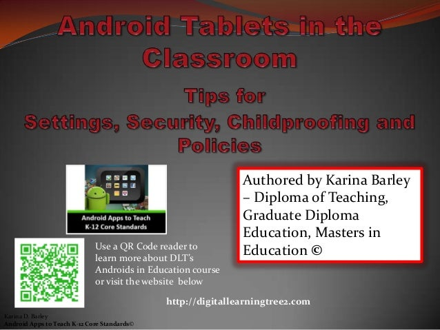 Use a QR Code reader to learn more about DLT's Androids in Education course or visit the website below Authored by Karina ...