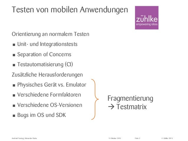 Android Testing  Slide 2