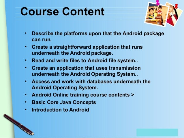 android development training | android development course