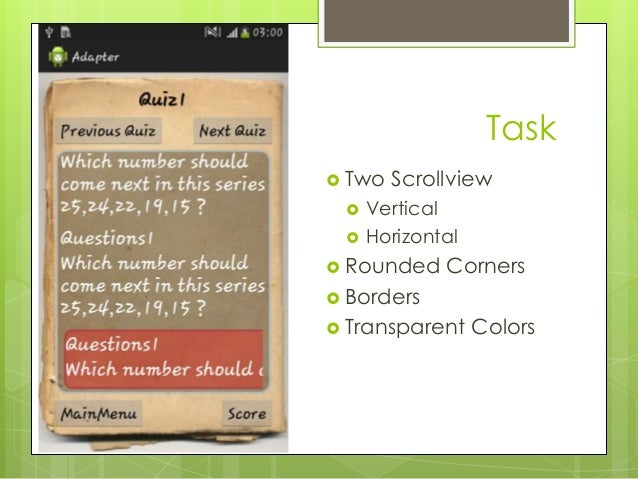 how to use scrollview in tablelayout in android