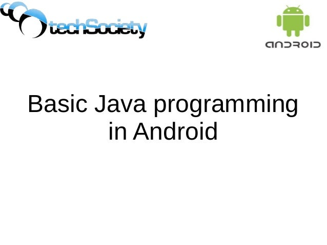Basic Java programming in Android