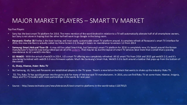 Android TV and Smart TV Market Analysis