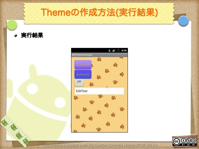 Ⅶ - 114 Themeの作成方法(実行結果) ! 実行結果 This material is licensed under the Creative Commons License BY-NC-SA 4.0.