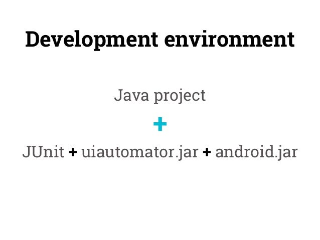 Android UI Testing with uiautomator