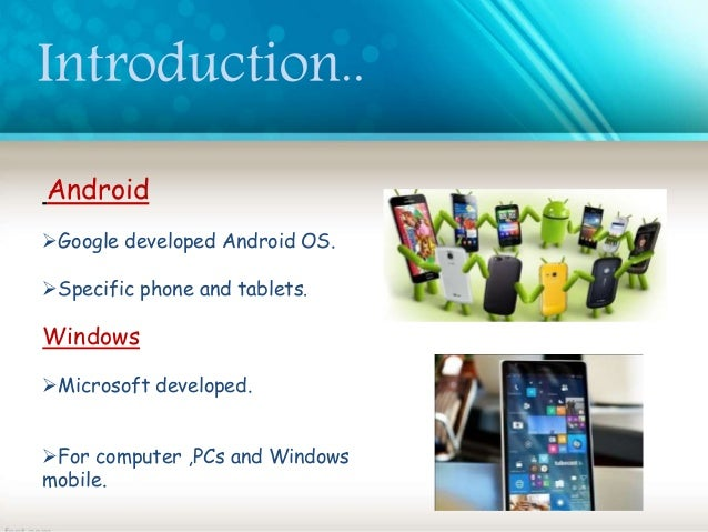 android vs windows phone ppt