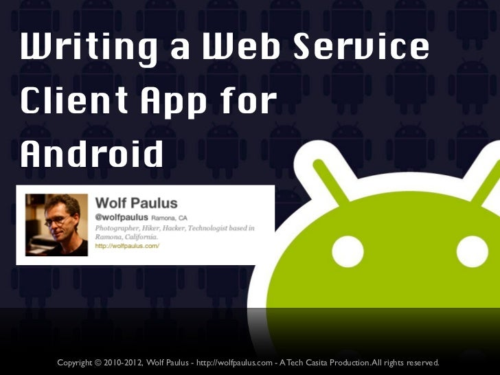Writing service for android in php