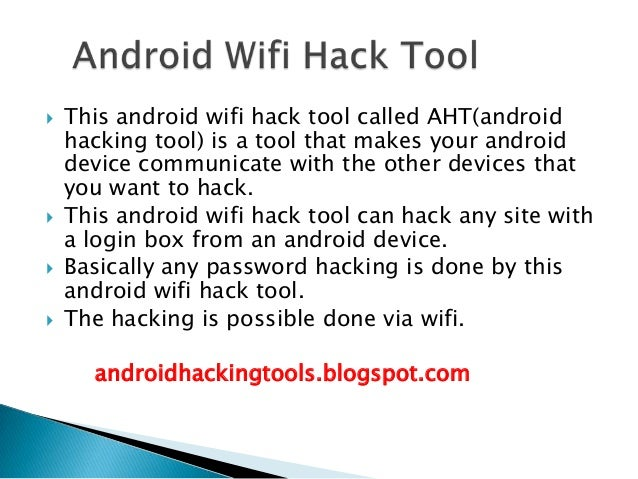 wifi hacking tools for android