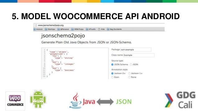 Android word press + woocommerce rest api