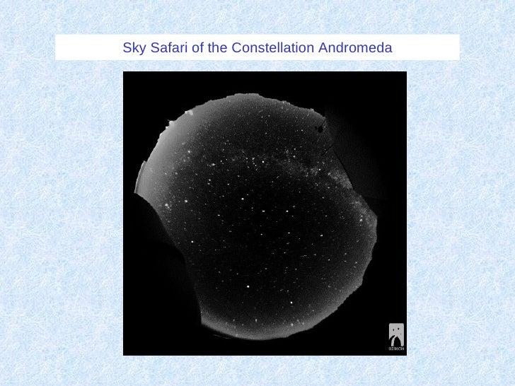 Sky Safari of the Constellation Andromeda