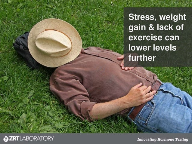 Stress, weight gain & lack of exercise can lower levels further