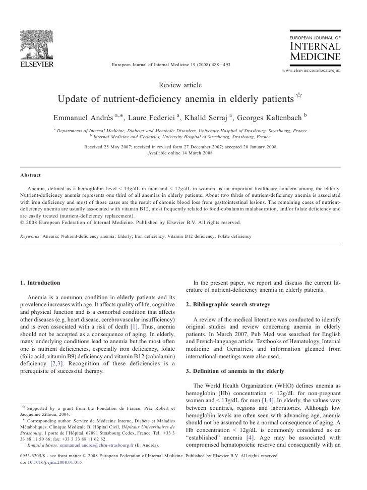 European Journal of Internal Medicine 19 (2008) 488 – 493                                                                 ...