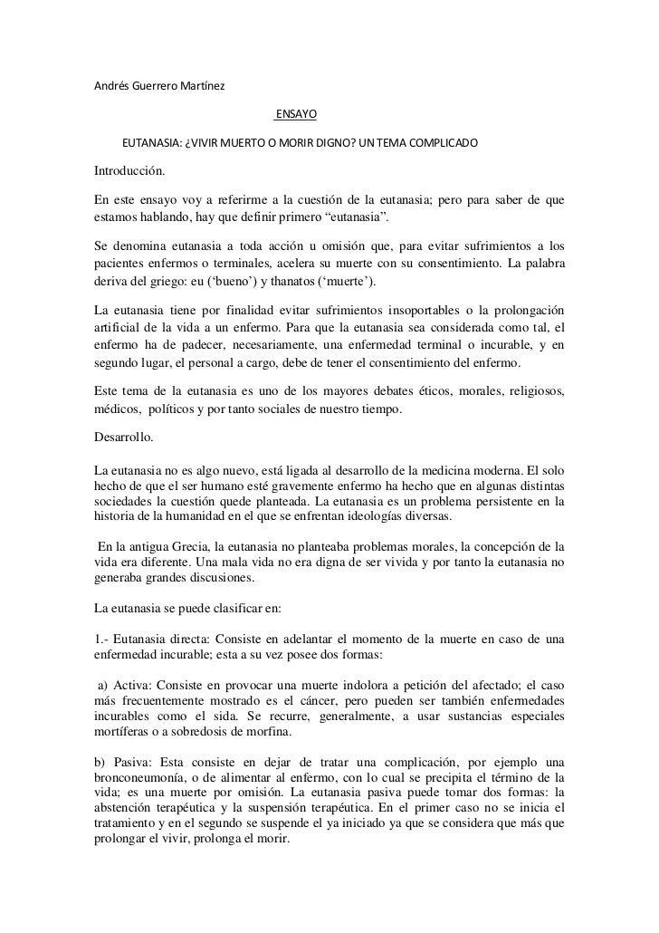 Andrés Guerrero Martínez<br />                                                                  ENSAYO<br />          EUTA...