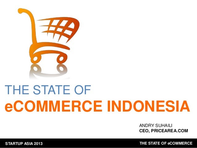 THE STATE OF  eCOMMERCE INDONESIA ANDRY SUHAILI CEO, PRICEAREA.COM STARTUP ASIA 2013  THE STATE OF eCOMMERCE