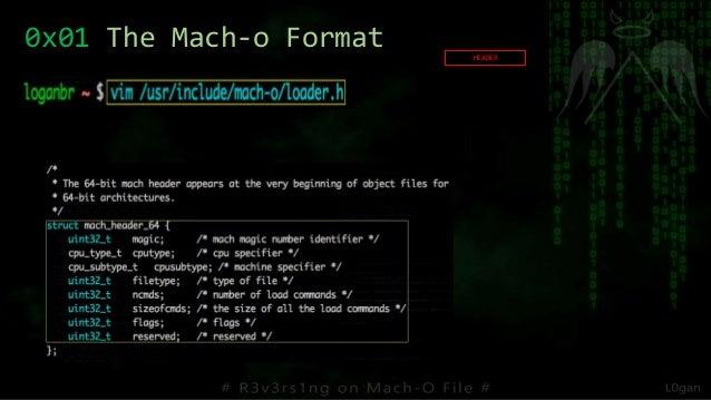 0x01 The Mach-o Format HEADER