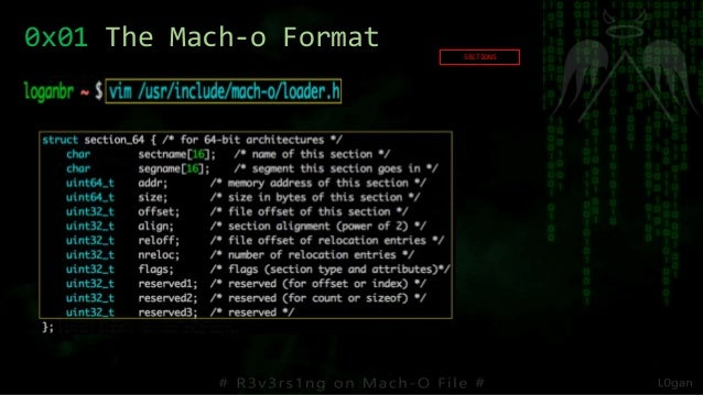 SECTIONS 0x01 The Mach-o Format