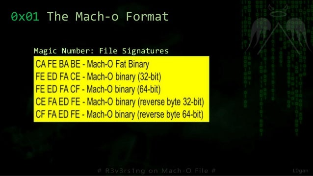 0x01 The Mach-o Format Magic Number: File Signatures