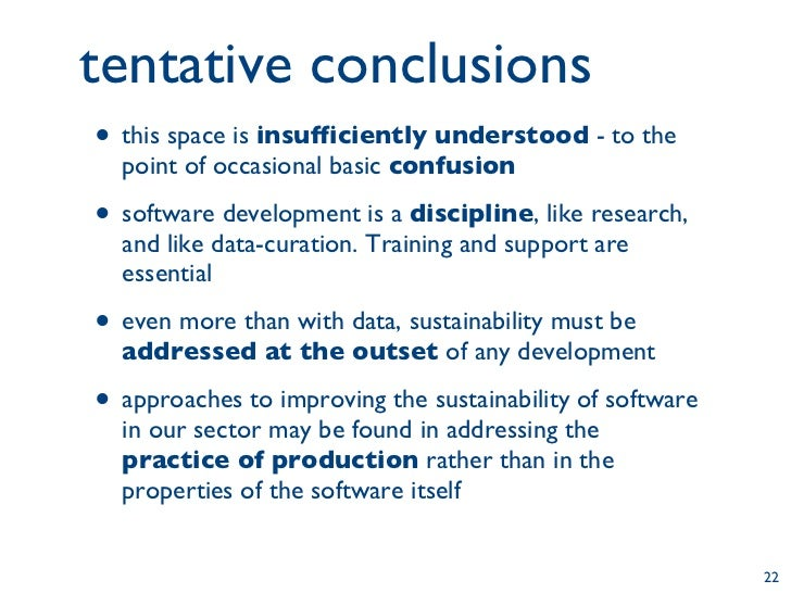 Aspects of the sustainability of software