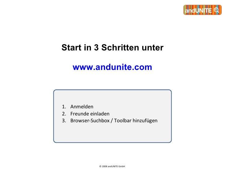andUNITE - How To Start 2008 Slide 2