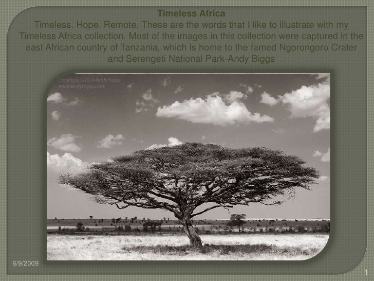 Timeless Africa<br />Timeless. Hope. Remote. These are the words that I like to illustrate with my Timeless Africa collect...