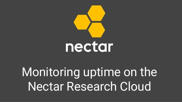 Monitoring uptime on the Nectar Research Cloud