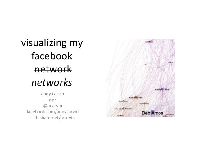 visualizing my facebook network networks andy carvin npr @acarvin facebook.com/andycarvin slideshare.net/acarvin