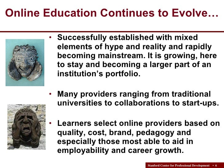 Online Education in Support of Career Development - Needs ...
