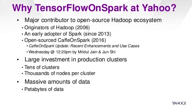 TensorFlowOnSpark: Scalable TensorFlow Learning on Spark