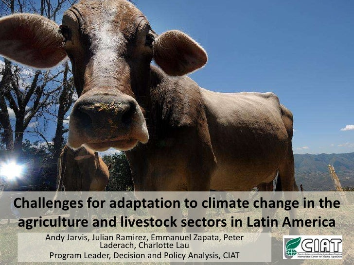 Challenges for adaptation to climate change in the agriculture and livestock sectors in Latin America<br />Andy Jarvis, Ju...