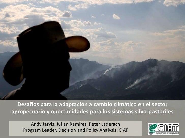 Desafíos para la adaptación a cambio climático en el sector agropecuario y oportunidades para los sistemas silvo-pastorile...