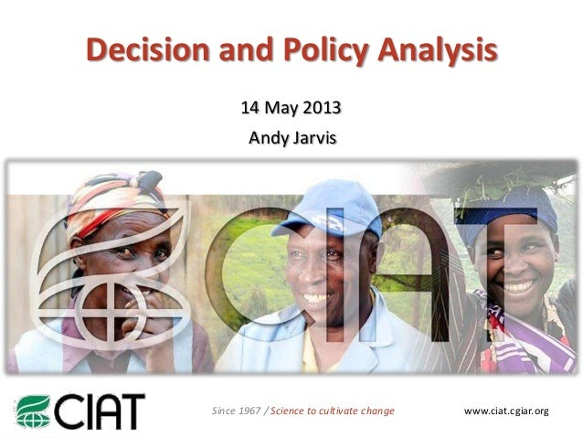 NAMEwww.ciat.cgiar.orgSince 1967 / Science to cultivate change14 May 2013Andy JarvisDecision and Policy Analysis