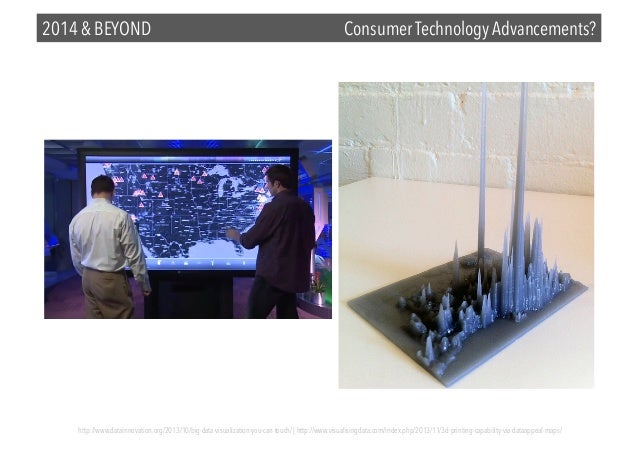 2014 & BEYOND  Consumer Technology Advancements?  http://www.datainnovation.org/2013/10/big-data-visualization-you-can-tou...