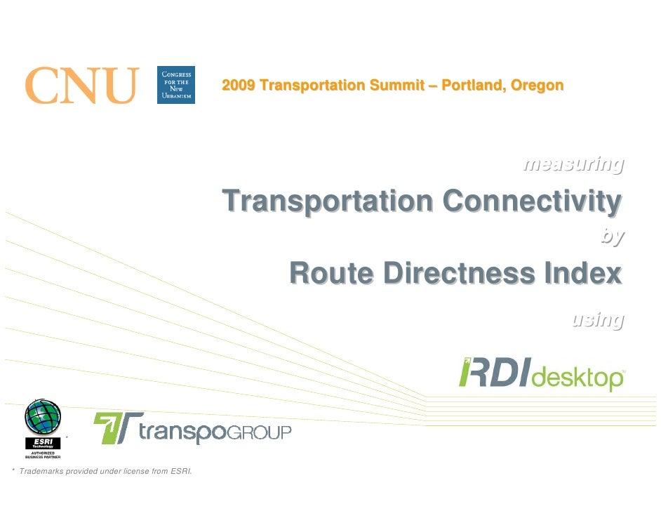 2009 Transportation Summit – Portland, Oregon                                                                             ...