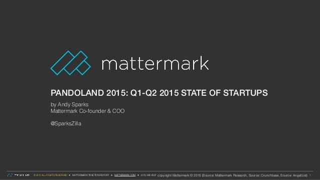 © 2015 ALL RIGHTS RESERVED ● MATTERMARK TRACTION REPORT ● MATTERMARK.COM ● (415) 366-6587 PANDOLAND 2015: Q1-Q2 2015 STATE...