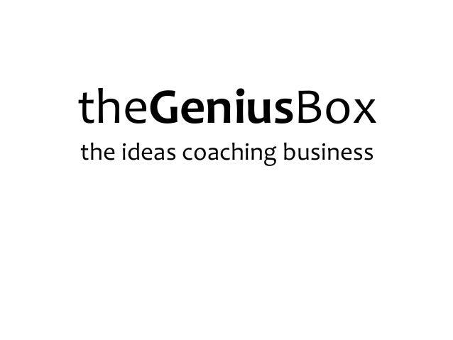 theGeniusBoxthe ideas coaching business