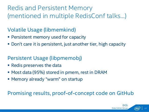 RedisConf18 - The Benefits of Persistent Memory