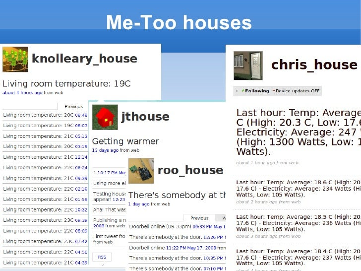 Me-Too houses
