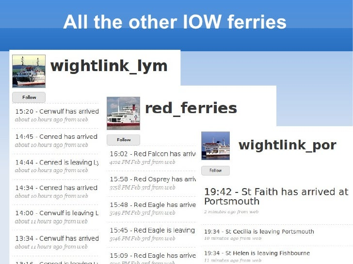 All the other IOW ferries