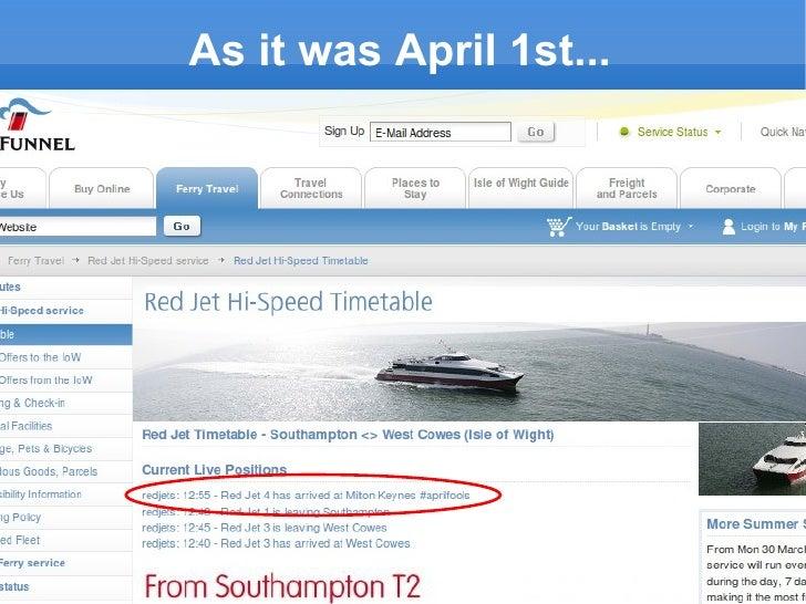 As it was April 1st...