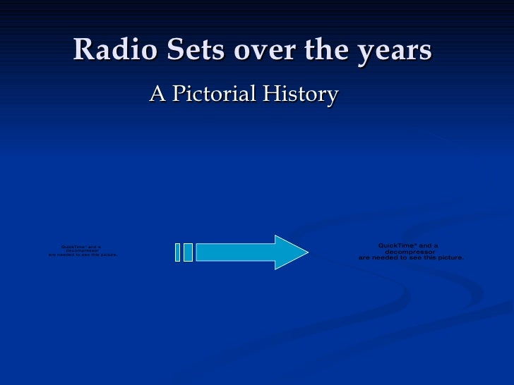Radio Sets over the years A Pictorial History