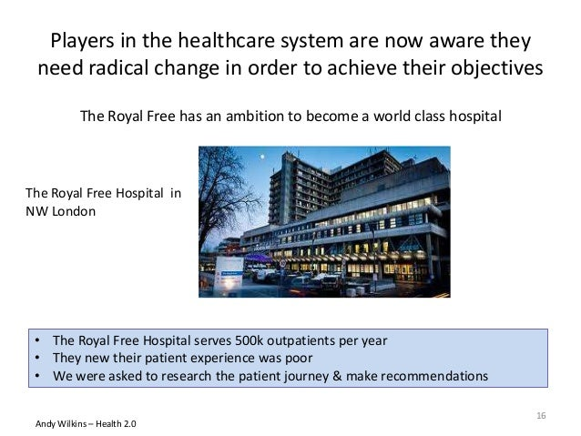 • The Royal Free Hospital serves 500k outpatients per year • They new their patient experience was poor • We were asked to...