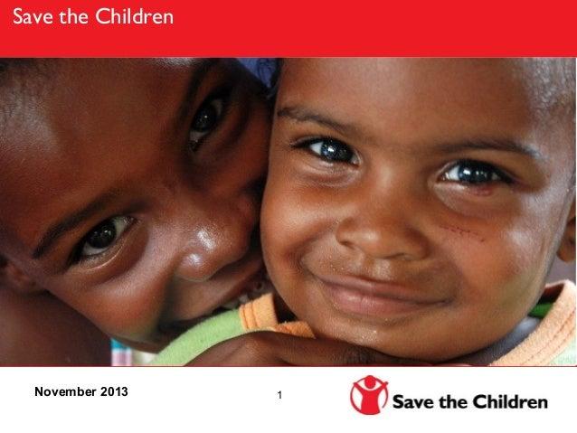 Save the Children  November 2013  1