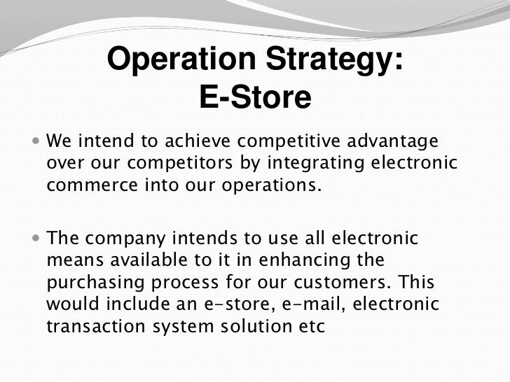 Sample operation plan leoncapers an e business plan sample presentation accmission Gallery