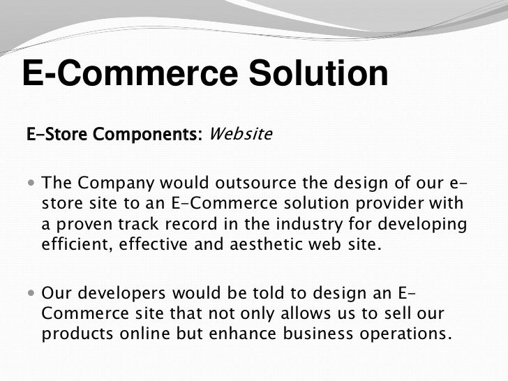 An e business plan sample presentation e commerce fbccfo