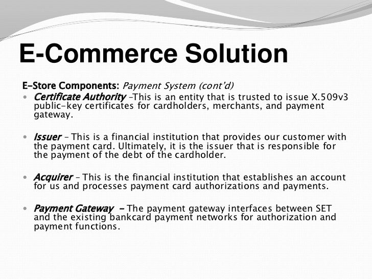 ecommerce business plan presentation