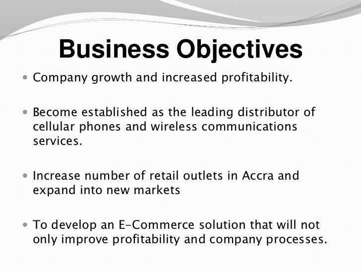 Financial Business Objectives