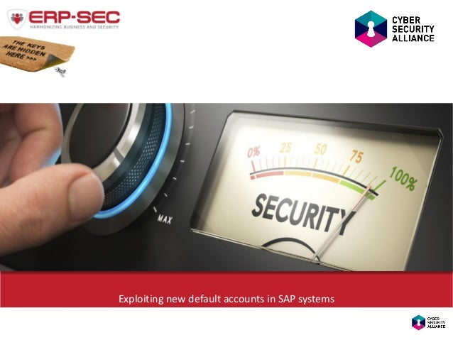 Exploiting new default accounts in SAP systems